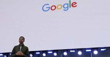 Google CEO Sundar Pichai speaks about YouTube break reminders at the Google I/O conference.