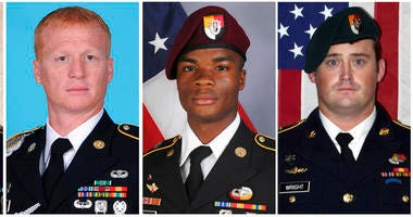 From left: Staff Sgt. Bryan C. Black, Staff Sgt. Jeremiah W. Johnson, Sgt. La David Johnson, and Staff Sgt. Dustin M. Wright. All four Americans were killed in Niger.