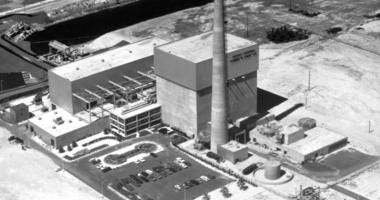 This July 12, 1972 file photo shows the Oyster Creek nuclear power plant in Lacey Township, N.J. Federal regulators say America's oldest nuclear power plant will shut down Sept. 17, 2018.