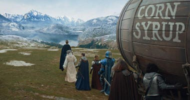 This undated image provided by Anheuser-Busch shows a scene from the company's Bud Light 2019 Super Bowl NFL football spot.