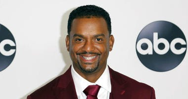 FILE - In this Aug. 7, 2018 file photo, Alfonso Ribeiro arrives at the Disney/ABC 2018 Television Critics Association Summer Press Tour in Beverly Hills, Calif.