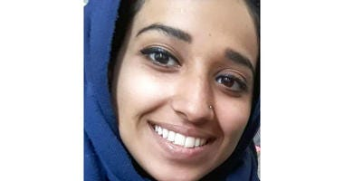 This undated image provided by attorney Hassan Shibly shows Hoda Muthana, an Alabama woman who left home to join the Islamic State after becoming radicalized online.