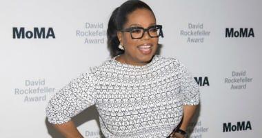 FILE - In this March 6, 2018 file photo, Oprah Winfrey attends The Museum of Modern Art's David Rockefeller Award Luncheon honoring Oprah Winfrey at the Ziegfeld Ballroom in New York.