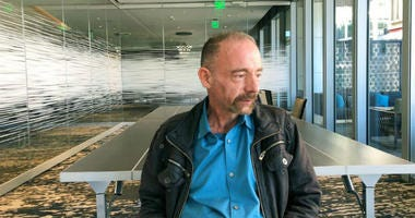 Timothy Ray Brown poses for a photograph, Monday, March 4, 2019, in Seattle.