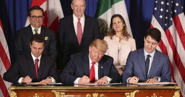 Trump's new North America trade agreement would give the U.S. economy only a modest boost, an independent federal agency finds.