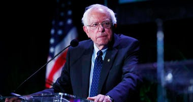 Democratic presidential candidate Sen. Bernie Sanders, I-Vt., pauses while speaking during a forum on Friday, June 21, 2019, in Miami.