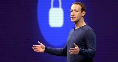 In this May 1, 2018, file photo, Facebook CEO Mark Zuckerberg delivers the keynote speech at F8, Facebook's developer conference, in San Jose, Calif.