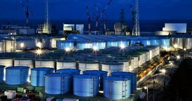 This Jan. 25, 2019, photo shows water tanks containing contaminated water that has been treated at the Fukushima Dai-ichi nuclear plant in Okuma town, Fukushima prefecture, northeastern Japan.