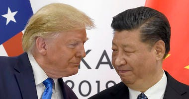 Donald Trump and China's Xi Jinping