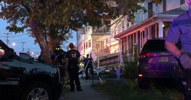 Scene of a building structure damage in Wildwood, N.J