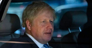 British Prime Minister Boris Johnson leaves his hotel, Tuesday, Sept. 24, 2019, in New York.