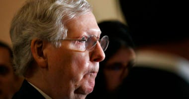 Senate Majority Leader Republican Mitch McConnell attends a press conference with members of the Senate Republican leadership on Tuesday, September 24, 2019.