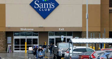 Shoppers are shown leaving a Sam's Club in Pittsburgh.