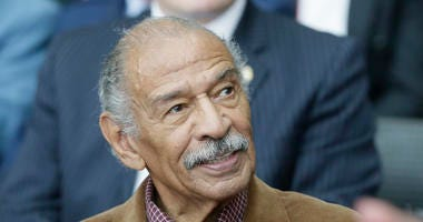 File photo of Congressman John Conyers from 2016, seen during a ceremony for former U.S. Sen. Carl Levin, in Detroit.