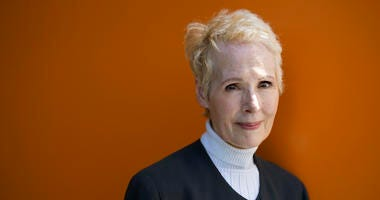 E. Jean Carroll is photographed in New York. Carroll, who says President Donald Trump sexually assaulted her in a New York City department store dressing room in the 1990s, is now suing him for alleged defamation.