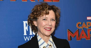 "Actress Annette Bening is shown at a special screening of her film ""Captain Marvel"" in New York."