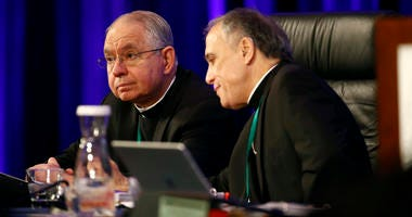 Archbishop Jose Gomez and Cardinal Daniel DiNardo