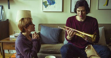 "This image released by Netflix shows Scarlett Johansson, left, and Adam Driver in ""Marriage Story."""