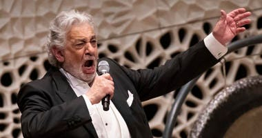 Opera star Placido Domingo during a concert in Hamburg on Wednesday, November 27, 2019.