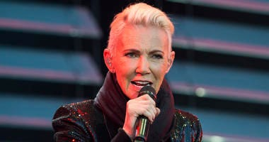 Marie Fredriksson, singer of the pop duo Roxette. Fredriksson has died, aged 61 after a long illness, according to an announcement Tuesday Dec. 10, 2019.