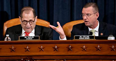 House Judiciary Committee Chairman Rep. Jerrold Nadler, D-N.Y., left, and ranking member Rep. Doug Collins, R-Ga., right, at a convening over the articles of impeachment against President Donald Trump.