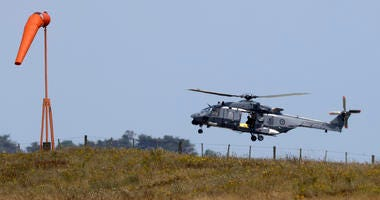 Navy helicopter returns to Whakatane Airport