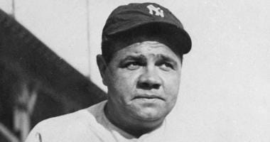 File photo of Babe Ruth. The bat used by the legendary baseball player to hit his 500th home run was auctioned on Saturday, Dec. 14, 2019 for more than $1 million.