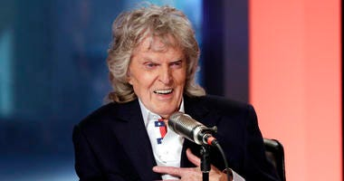 "Cable television and radio personality Don Imus appears on his last ""Imus in the Morning"" program, on the Fox Business Network, in New York."