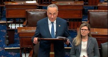 Senate Minority Chuck Schumer of N.Y., speaks on the Senate floor, Friday, Jan. 3, 2020 at the Capitol in Washington.
