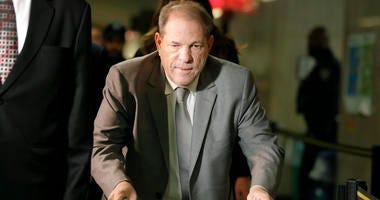 Harvey Weinstein arrives to court for the start of jury selection in his sexual assault trial Tuesday, Jan. 7, 2020, in New York.