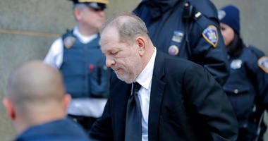 Harvey Weinstein leaves a Manhattan courthouse during a break in the jury selection for his trial on rape and sexual assault charges in New York, Thursday, Jan. 16, 2020.