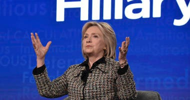 """Hillary Clinton participates in the Hulu """"Hillary"""" panel during the Winter 2020 Television Critics Association Press Tour, on Friday, Jan. 17, 2020, in Pasadena, Calif."""