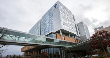 Providence Regional Medical Center Everett where a man with the first case of coronavirus in the United States is being treated on Tuesday, Jan. 21, 2020, in Everett, Wash.
