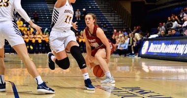 Senior point guard Alyssa Monaghan leads Saint Joseph's University in scoring this season, averaging 14.6 ppg.