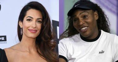 Amal Clooney and Serena Williams