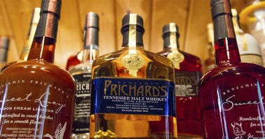 In this March 19, 2015 file photo, bottles of spirits are on display at the Prichard's Distillery in Nashville, Tenn.