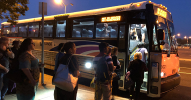 The suspension of New Jersey Transit's Atlantic City Rail Line has begun. Regular riders are finding alternatives, like an express shuttle from Lindenwold to Atlantic City.