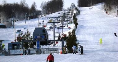 A ski lift at Bear Creek Mountain