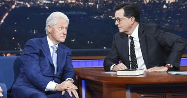 President Bill Clinton on 'The Late Show with Stephen Colbert'