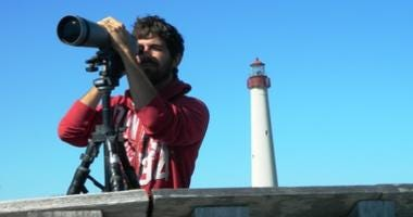 Birder and Lighthouse