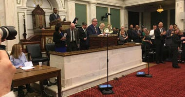 """Mayor Jim Kenney has confirmed that, despite appearances to the contrary, he really does like his job. It was one of the lighter moments during his Thursday address to City Council in which he laid out what might be called an """"election year"""" budget."""