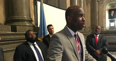Philadelphia City Councilman Derek Green and Pa. state Rep. Jordan Harris