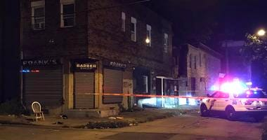 North Philly barricade