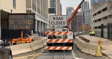 15th Street bridge construction