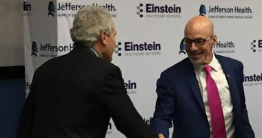 Jefferson CEO Dr. Steve Klasko and Einstein CEO Barry Freedman