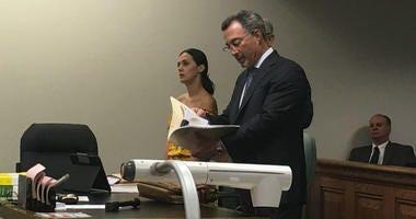 Defendant Emily Weinman and defense attorney Steve Scheffler
