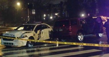 Police vehicle at North Broad Street and W Somerville Ave.