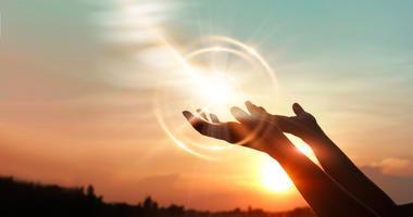 Hands in prayer.
