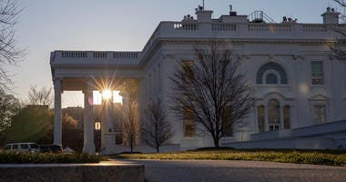 The morning sun rises over the White House on March 24, 2019 in Washington, DC.