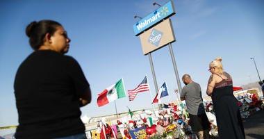 Vigil outside El Paso Walmart after shooting